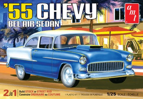 AMT 1955 Chevy Bel Air Sedan 1:25 Scale Model Kit