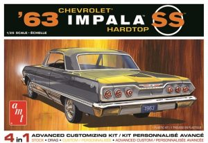 """""""PRE-ORDER"""" AMT 1963 Chevy Impala SS 1:25 Scale Model Kit"""