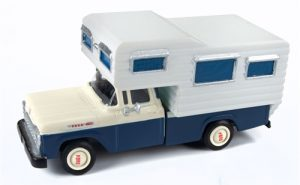 Classic Metal Works 1960 Ford Camper Truck (Academy Blue/White) 1:87 HO Scale