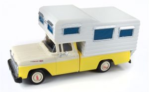 Classic Metal Works 1960 Ford Camper Truck (Goldenrod Yellow/White) 1:87 HO Scale