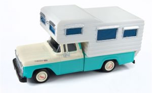 Classic Metal Works 1960 Ford Camper Truck (Indian Turquoise/White) 1:87 HO Scale