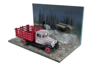 Texaco 1930 Chevrolet Stakebed Diorama (USA Series No 12)  (1:43 Scale)