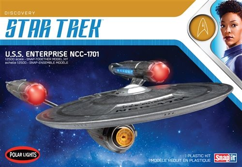 Polar Lights Star Trek Discovery USS Enterprise 1:2500 Scale SNAP Kit