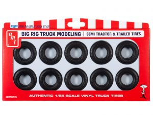 AMT BIG RIG TRUCK TIRE PARTS PACK 1:25 SCALE