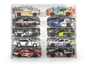 Auto World Ten-Car Acrylic Display Case (For 1:24/1:25 Scale Vehicles)