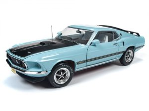 """""""PRE-ORDER"""" American Muscle 1969 Ford Mustang Mach 1 (Class of 1969) 1:18 Scale Diecast"""