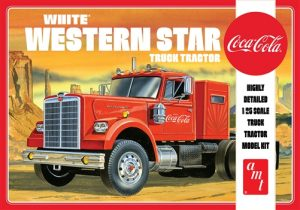 """PRE-ORDER"" AMT White Western Star Semi Tractor (Coca Cola) 1:25 Scale Model Kit"
