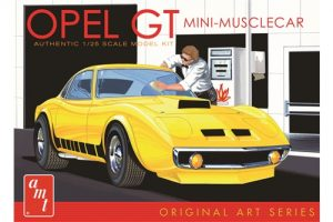 "AMT Buick Opel GT ""Original Art Series"" - Yellow 1:25 Scale Model Kit"