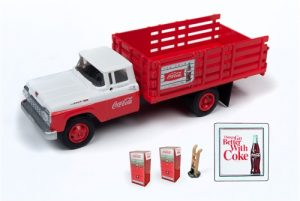 Classic Metal Works 1960 Ford Stakebed Truck w/1960's Machines, Hand Truck & Sign (Coca-Cola)) 1:87 HO Scale