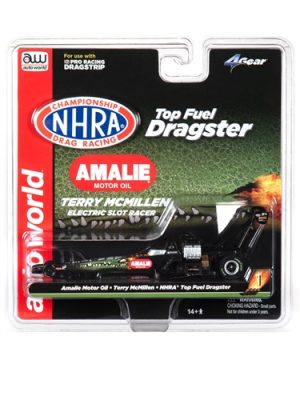"""PRE-ORDER"" Auto World 4Gear R23 NHRA Terri McMillen - 2019 Amalie Oil Top Fuel Dragster HO Scale Slot Car"