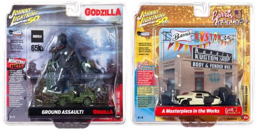 Johnny Lightning Diorama- Godzilla/Barris Resin Façade