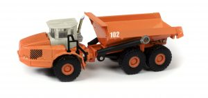 TraxSide Collection Heavy Duty Dumper (Orange) 1:87 HO Scale