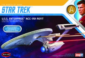Polar Lights Star Trek U.S.S. Enterprise Refit Wrath of Khan Edition 1:1000 Scale Model Kit