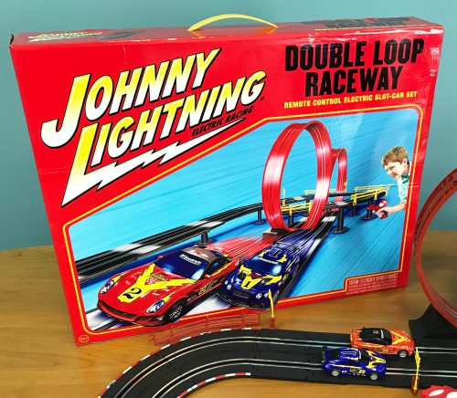 Johnny Lightning 24' Double Loop Raceway Remote Control Electric 1:43 Scale Slot Race Set!