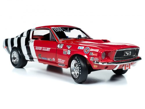 Auto World 1968 Ford Mustang Fastback (Sandy Elliot) 1:18 Scale Diecast