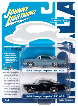 Johnny Lightning 63/65 Chevy Impala 2-Pack 1:64 Scale Diecast