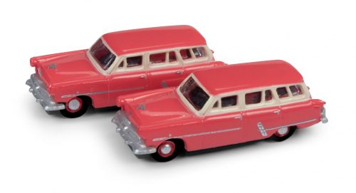 Classic Metal Works 1953 Ford Station Wagon (Flamingo Red) (2-Pack) 1:160 N Scale