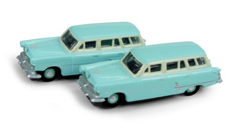 Classic Metal Works 1953 Ford Station Wagon (Cascade Green) (2-Pack) 1:160 N Scale