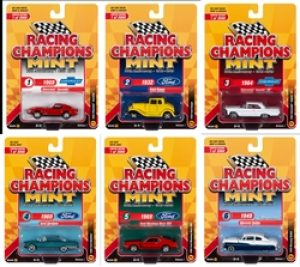 Racing Champions Mint 2019 Release 1 Set A (6-Car Sealed Case) 1:64 Diecast