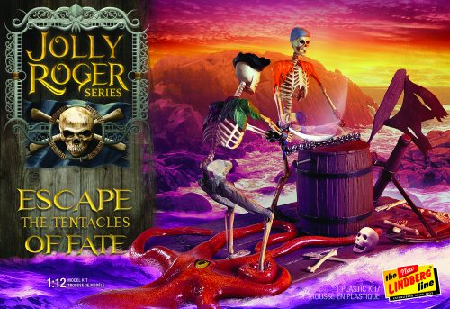 Lindberg Jolly Roger Series: Escape the Tentacles of Fate 1:12 Scale Model Kit