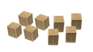 Classic Metal Works Wooden Pallets 1:87 HO Scale
