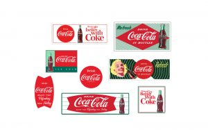 Classic Metal Works Building Signs Pack (Coca-Cola) 1:87 HO Scale