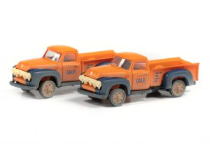 Classic Metal Works 1954 Ford Pickup (Gulf Oil) (2-Pack) 1:160 N Scale
