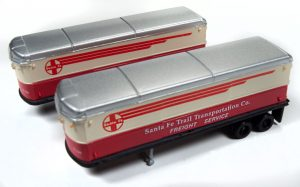 Classic Metal Works AeroVan Trailer (Santa Fe) (2-Pack) 1:160 N Scale