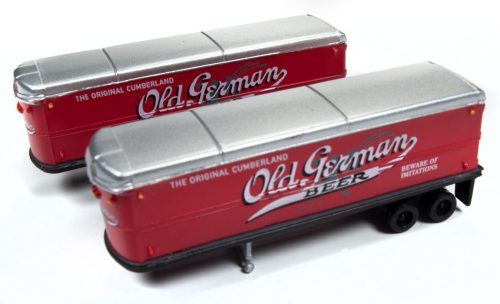 Classic Metal Works AeroVan Trailer (Old German Beer) (2-Pack) 1:160 N Scale