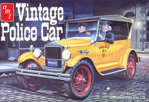 AMT 1927 Ford T Vintage Police Car 1:25 Scale Model Kit