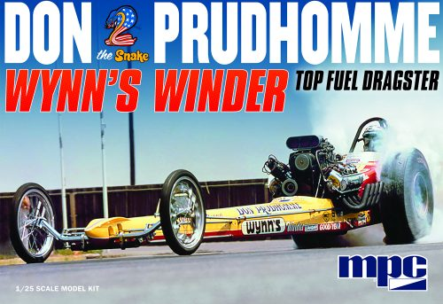 """MPC Don """"Snake"""" Prudhomme Wynns Winder Dragster 1:25 Scale Model Kit"""