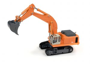 Classic Metal Works TraxSide Collection Hydraulic Excavator (Orange) 1:87 HO Scale
