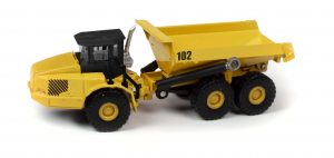 Classic Metal Works TraxSide Collection Heavy Duty Dumper (Yellow) 1:87 HO Scale