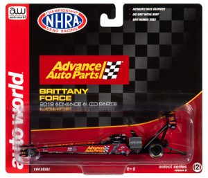 Auto World 2019 Brittany Force Montana Brand TFD
