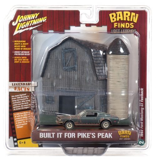 Johnny Lightning Barn Facade with 1968 Ford Mustang