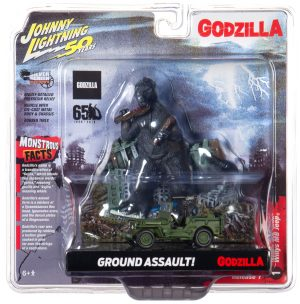 Johnny Lightning Diorama Set - Godzilla w/ Jeep