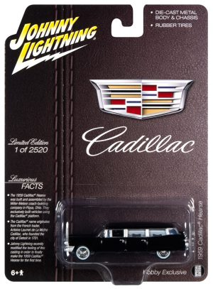 Johnny Lightning 1959 Cadillac Hearse 1:64 Scale Diecast