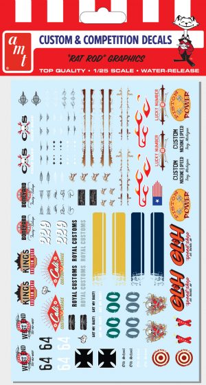 AMT Rat Rod Graphics Decals 1:25 Scale