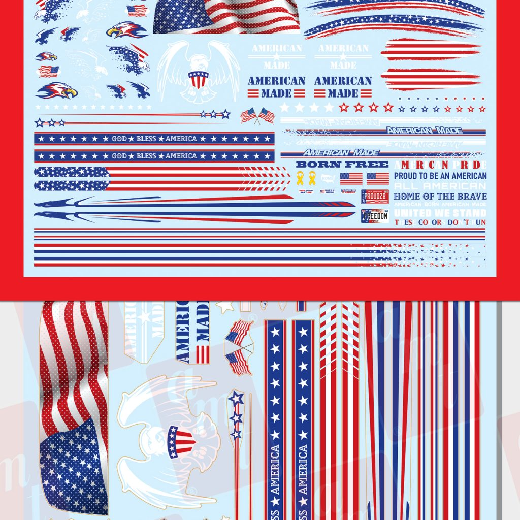 AMT All American Graphics Custom Decals 1:25 Scale