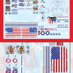AMT American Pride Graphics Custom Decals 1:25 Scale