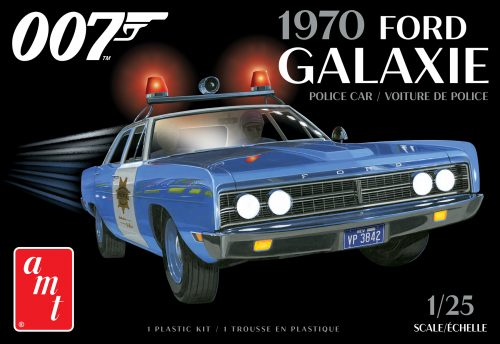 AMT 1970 Ford Galaxie Police Car (James Bond) 1:25 Scale Model Kit