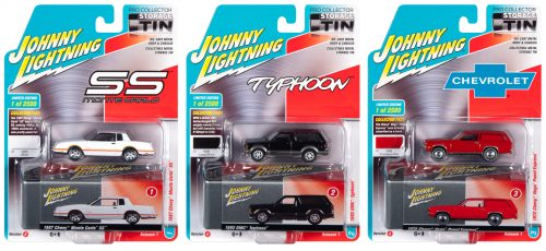 Johnny Lightning Assortment with Collector Tin - A Version