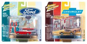 Johnny Lightning Tin Diorama - World's Fair / Norwood Assortment
