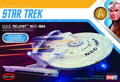 Polar Lights Star Trek Star Trek U.S.S. Reliant Wrath of Khan Edition 1:1000 Scale Model Kit