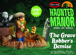 Polar Lights Haunted Manor: The Grave Robber's Demise 1:12 Scale Model Kit