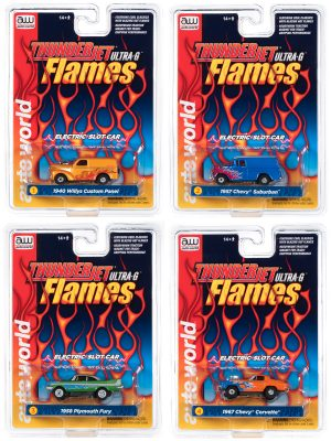 Auto World Thunderjet Flames Release 29 - HO Scale Slot Car