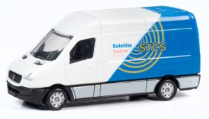 Classic Metal Works TraxSide Collection 1990 Sprinter Van (STCS TeleCom/Security) 1:87 HO Scale