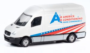 Classic Metal Works TraxSide Collection 1990 Sprinter Van (Air America Air Conditioning) 1:87 HO Scale