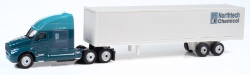 Classic Metal Works TraxSide Collection 2000's Semi Tractor Trailer Set (Northtech Chemical) 1:87 HO Scale