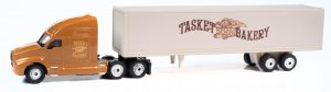 Classic Metal Works TraxSide Collection 2000's Semi Tractor Trailer Set (Tasket Bakery) 1:87 HO Scale